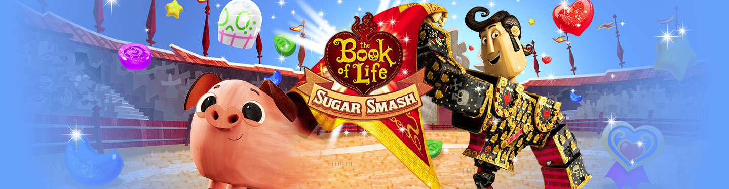 Book of Life: Sugar Smash Header